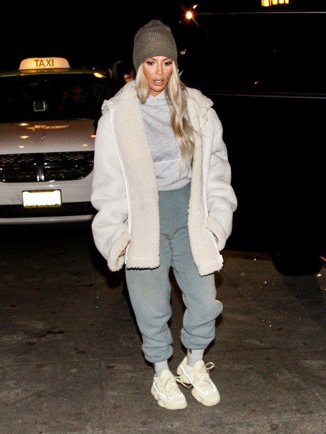 Kardashian Yeezys Kim Unreleased While Dressed Kanye Like West Wore jRL543A