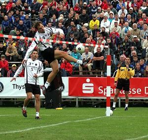 fistball - Despite not being well-renowned in the media, fistball is an old sport that's practiced all over the world. Like tennis and volleyball, the purpose of the sport is to hit the ball with your fist or arm and place it in the opponent's half where they won't get to it