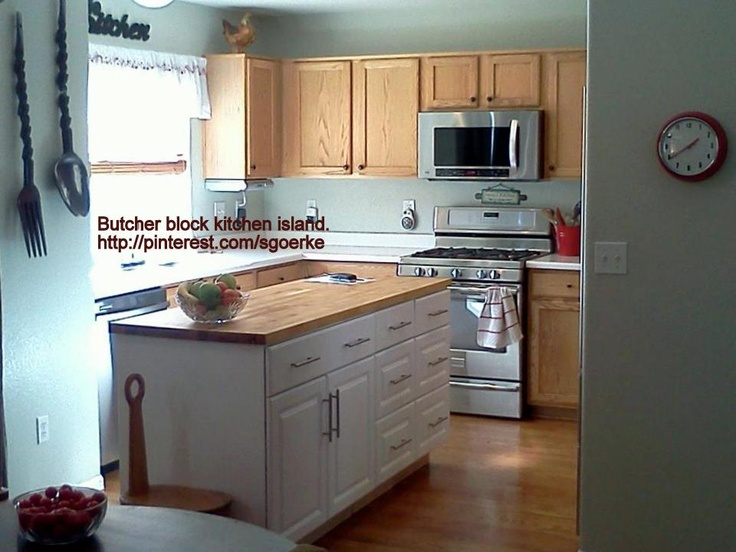 Kitchen Island That Jim Built For Us Butcher Block Kitchen Island Butcher Block Counter Top Is