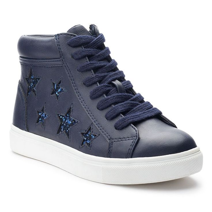 SO® Nellie Star Girls' High-Top Sneakers, Blue