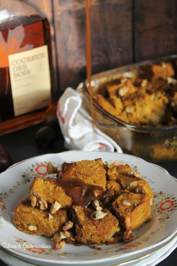 Casserole de pain doré à la citrouille végane - Valises & Gourmandises