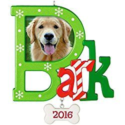 Dog Christmas Ornament Bark Dated 2016 Hallmark Keepsake Ornament