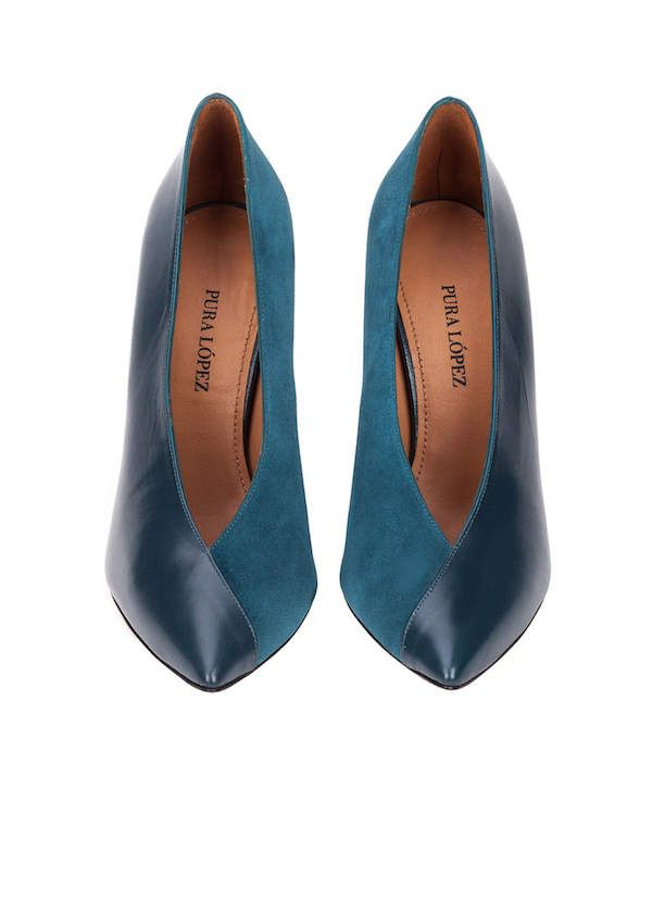Catálogo Zapatos Pura López Otoño Invierno 2018 azules f65aa513a646