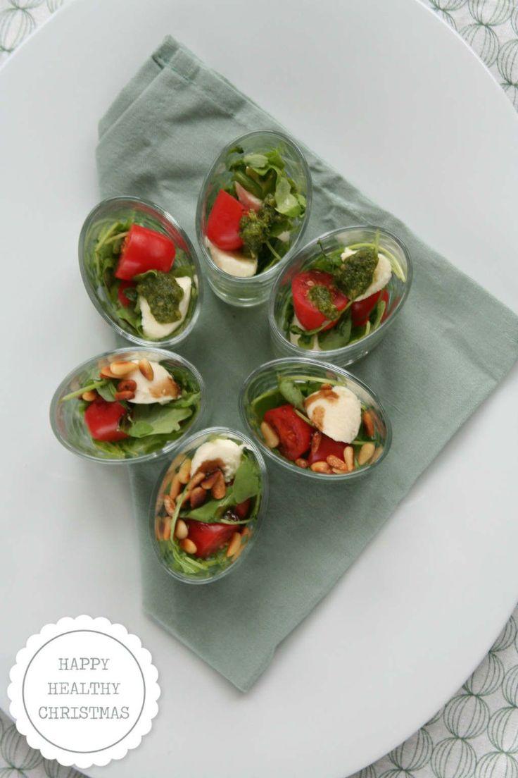 amuse rucola salade met mozzarella en cherry tomaatjes