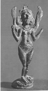 Hittite, metal figure, Winged Goddess Iştar, Karahöyük
