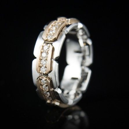 Beautiful An Italian inspired hand crafted men us wedding ring Refined and elegant is an understatement when