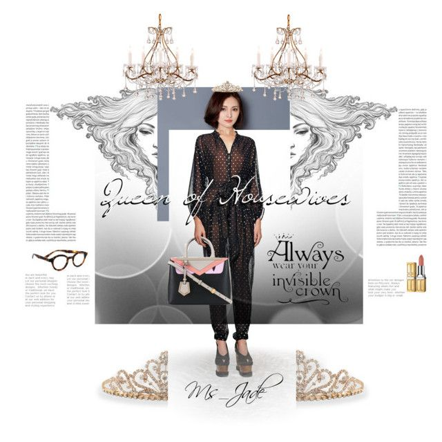 Queen of Housewives Fan Art Fashion Set by ms-jade-1 on Polyvore featuring Lavogo, STELLA McCARTNEY, BillyTheTree, eyebobs, Elizabeth Arden, Oris, fashionset, fanart, kdrama and Ms_Jade