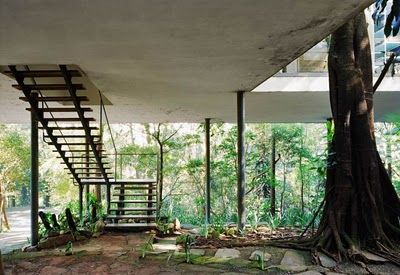 stairs to Casa de Vidro, by Lina Bo Bardi, São Paulo, Brazil
