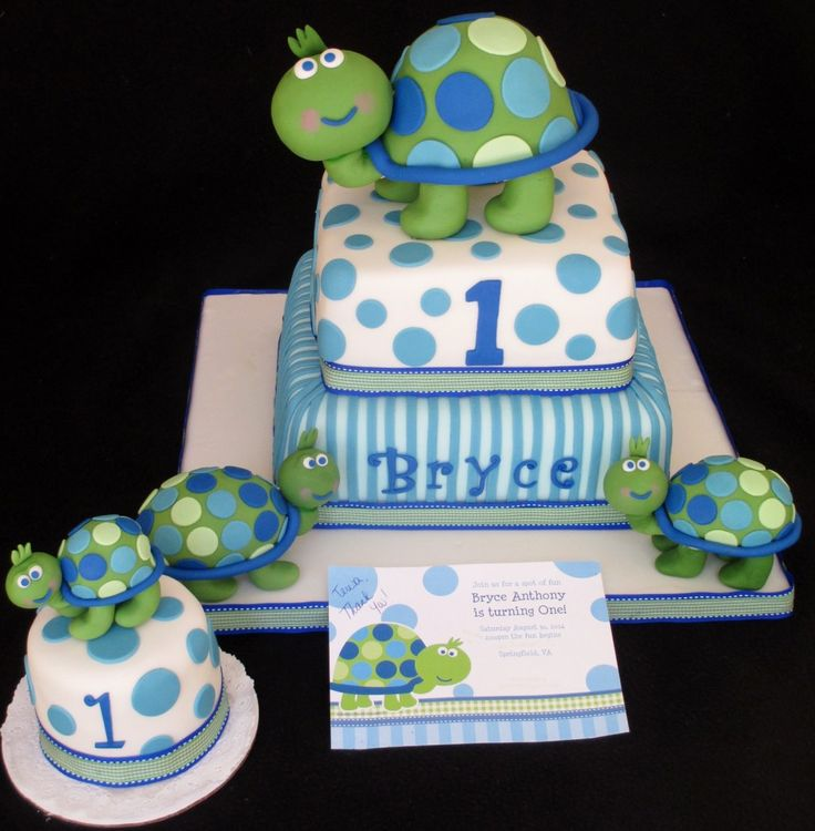 Turtle cake – First birthday cake