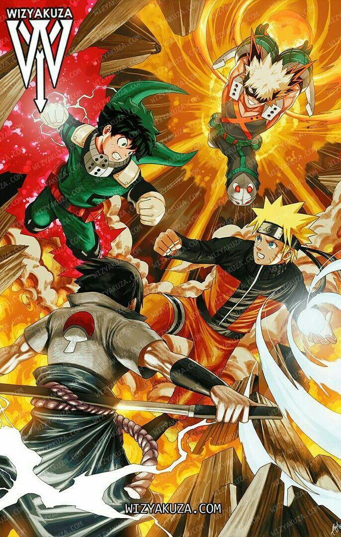 Boku No Hero Academia Naruto Shippuden Anime Crossover Anime All Anime Characters