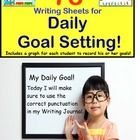 Writing for Daily Goal Setting for Kindergarten, First Grade, Second Grade, and Special Education.  With a wide variety of visuals and borders, Dail...