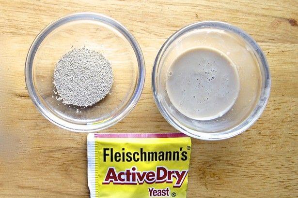 Dissolving active dry yeast via @kingarthurflour