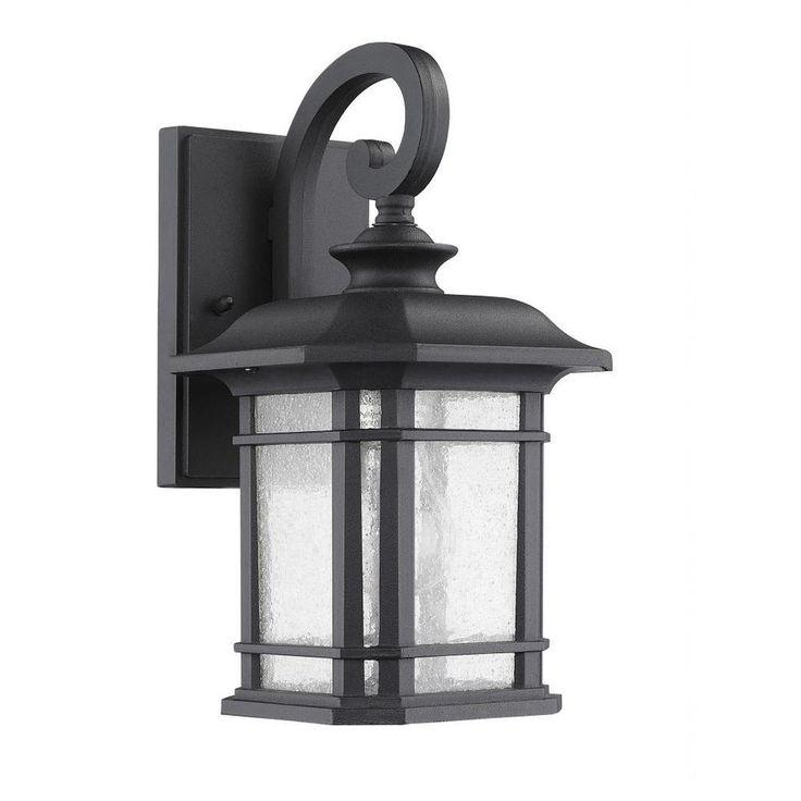 Transitonal 1-light Black Outdoor Wall Light Fixture | Overstock.com Shopping - Big Discounts on Wall Lighting