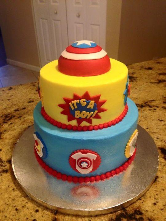 superhero baby shower cake - Google Search