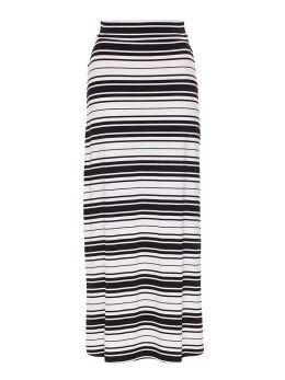 Ivy Maxi Skirt in White & Black