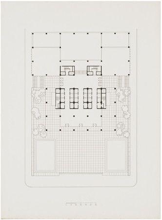 Lobby floor plan - Seagram Building - Mies