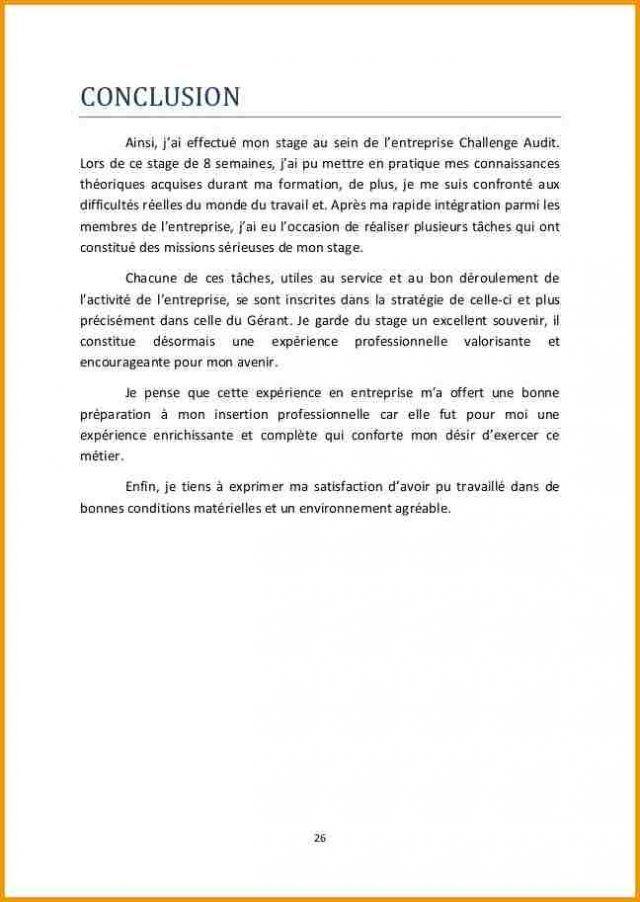 12 Conclusion Rapport De Stage Gouvernoratmaniema Rapport De Stage 3eme Modele De Rapport Rediger Un Rapport