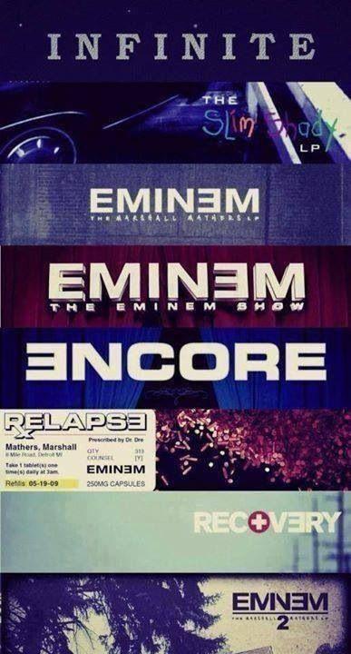 Eminem's Albums <3