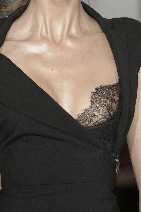 Black lace detail   lace bra