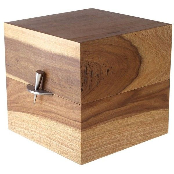 Solantu Home Acer Cube Block Box (29,030 PHP) ❤ liked on Polyvore featuring home, home decor, small item storage, brown, colored boxes, wood box, brown boxes, wood home decor and handmade wooden boxes