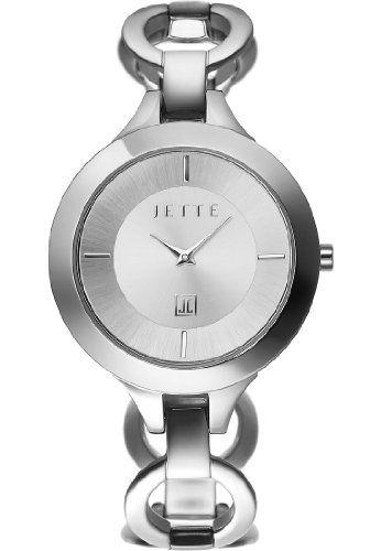 JETTE-Time-Damen-Armbanduhr-Impression-Analog-Quarz-One-Size-silber