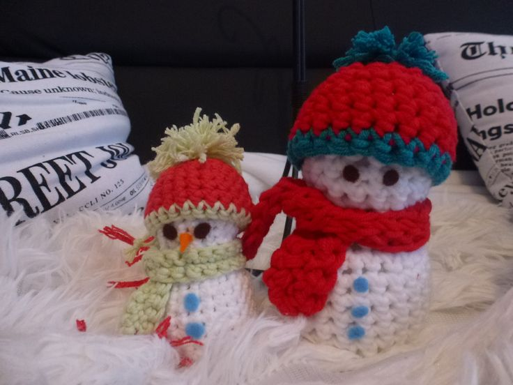 Bonhomme de neige au crochet poser partout accessoires - Bonhomme de neige au crochet ...
