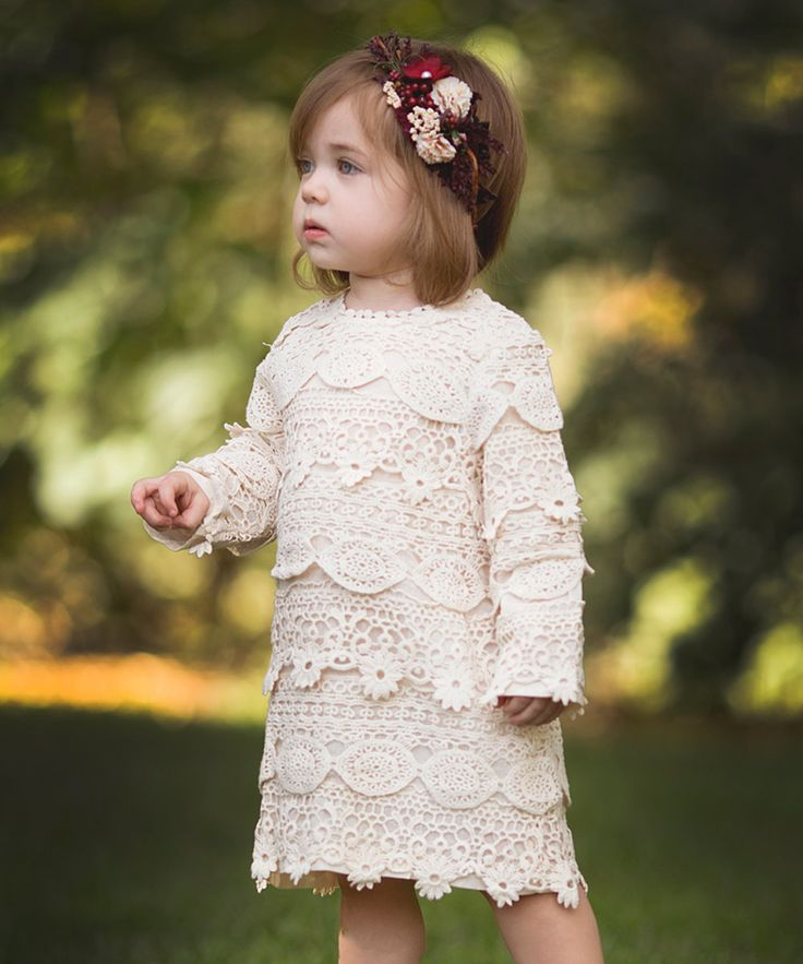 Look at this Just Couture Ivory Crochet Dress - Toddler & Girls on #zulily today!