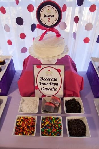 decorate your own...: Polka Dots, Birthday Parties, Cupcakes Stations, Cute Ideas, Cupcakes Bar, Birthday Cupcakes, Parties Ideas, Cupcakes Parties, Birthday Ideas