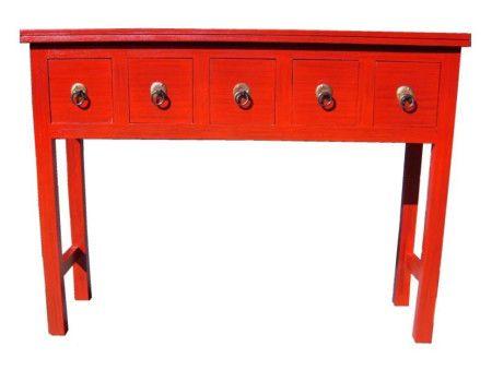 mesa 5 cajones , necesitas guardar  cosas pequeñas de uso diario, esta mesa es ideal.