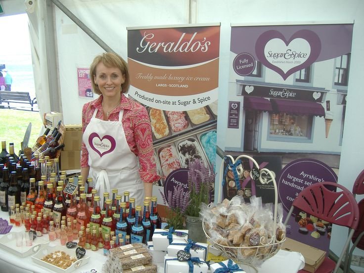 Scottish fruit liqueurs, whisky fudge and home made tablet ready to tempt you at LargsFoodFest