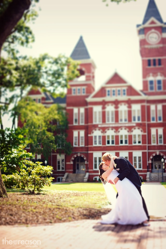 Auburn wedding. If i meet my husband at school i want this picture and live happily ever after ok.