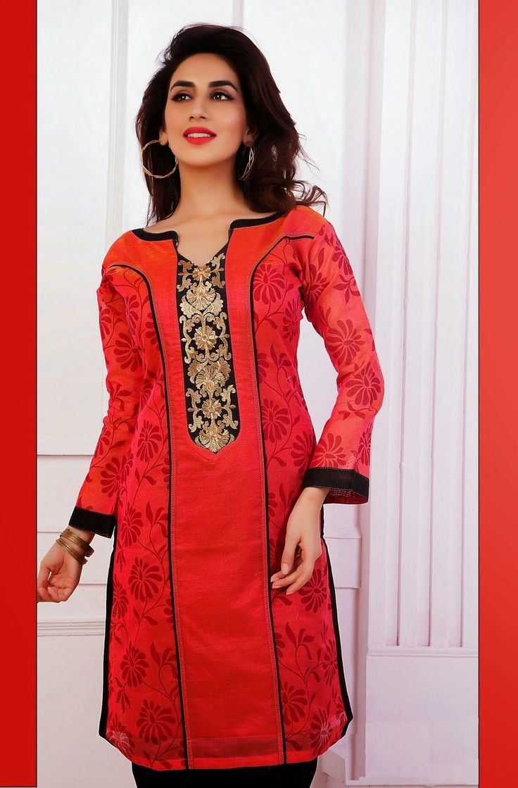 Stylish Look Red Color #Designer Party Wear #CasualKurti