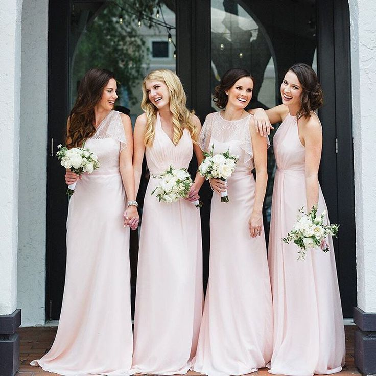 """David's Bridal on Instagram: """"What's prettier than mix and match bridesmaids in a Petal palette?! Thank you @southernweddings for showing how to mix maids with ease using our #WonderbyJennyPackham dresses! Tap the link in our profile to see more on their blog and to shop this look! #DavidsBridal #DBMaids"""""""