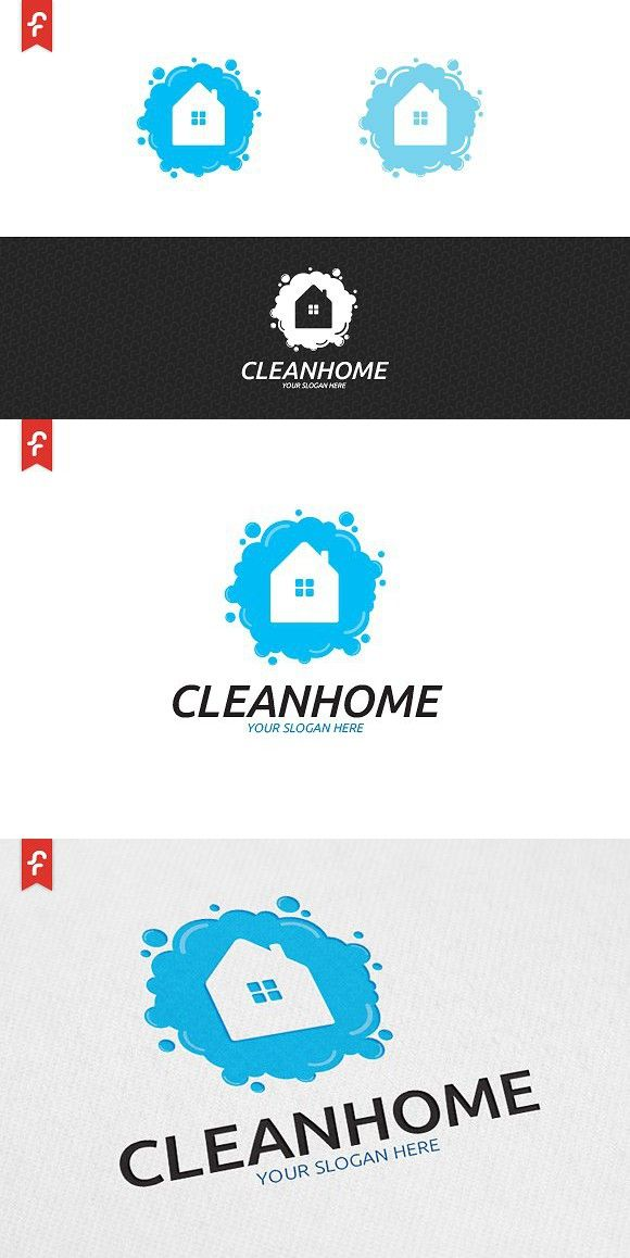 Clean Home Logo Cleaners Logo Home Logo Cleaning Logo