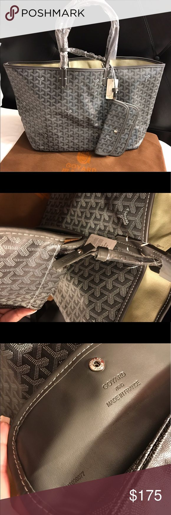 ❌❌NEW❌❌ Goyard gm large Beautiful large goyard tote gray excellent quality genuine leather with serial number non authentic reason for such low price :) Bags Shoulder Bags