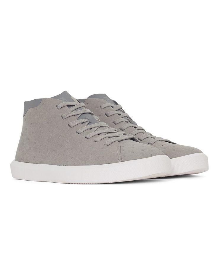 Native Shoes Monaco Mid Non Perf Trainer Grey