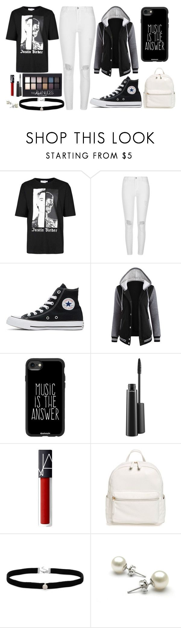 """""""Justin B"""" by thisisalle on Polyvore featuring Justin Bieber, River Island, Converse, Casetify, Maybelline, MAC Cosmetics, BP. and Amanda Rose Collection"""
