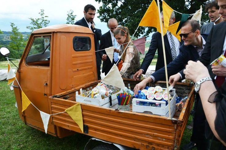 ape car aperetivo country wedding