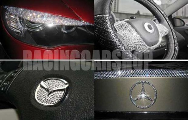 2002-2006 NISSAN ALTIMA INTERIOR EXTERIOR ICED OUT CRYSTAL BLING DIAMONDS 2003 2004 2005 02 03 04 05 06