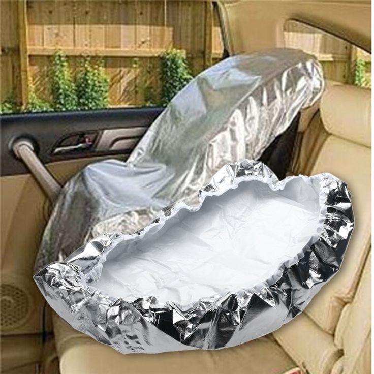 シルバーアルミフィルム80 × 70センチ赤ちゃん子供車の安全座席太陽シェードサンシェード紫外線プロテクターカバーリフレクター