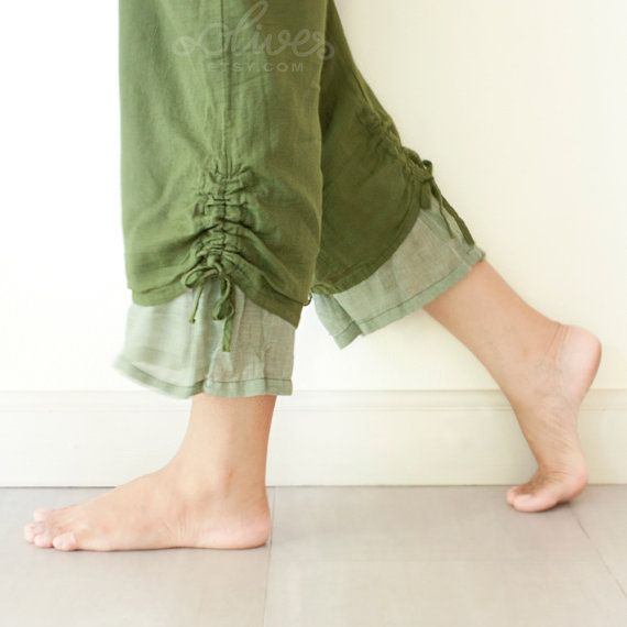 Comfy Drawstring Cotton Pants in Purple by oOlives on Etsy, $28.00