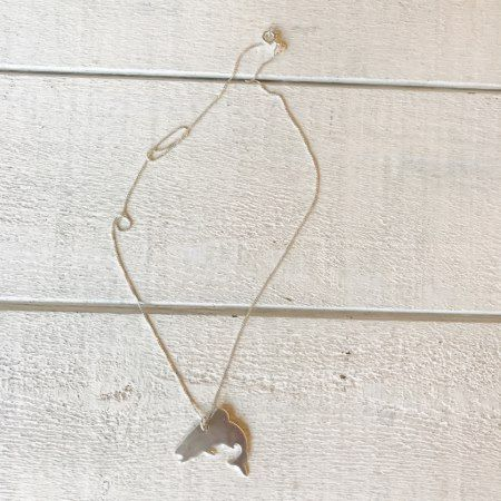 Sterling Silver Jumping Trout Necklace - tap, personalize, buy right now!