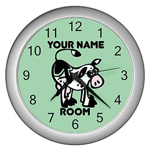 Green Personalized Cartoon Animal Cow Wall Clock CustomMade http://www.amazon.com/dp/B0114O52WG/ref=cm_sw_r_pi_dp_1-7Mvb0680SZ3