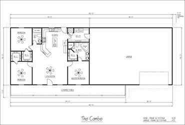 Metal buildings steel buildings and floor plans on pinterest for Shop house combination plans
