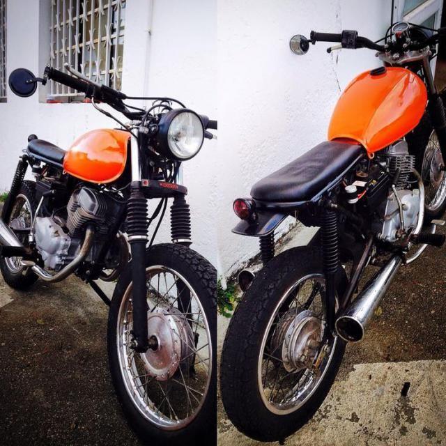 Honda 125 Twin :: Mon projet café racer Honda CB 125 twin1 1978
