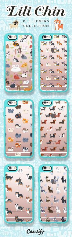 Top 6 Lii Chin iPhone 6 protective phone case designs. Don't you wanna own these cute pets? | Click through to see more iPhone phone case idea >>> https://www.casetify.com/lilichin/collection #dogs | @casetify