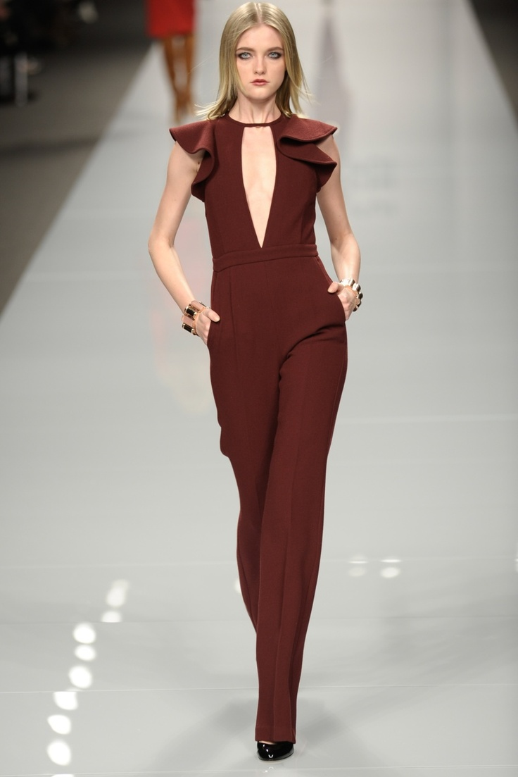 jumpsuits are it this fall - this color is spectacular.