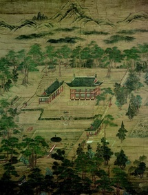 Juhamnu Pavilion  Joseon, 1776, 143.0×115.5cm; This pavilion at Changdeokgung Palace once housed Gyujanggak, the royal archives of the Joseon Dynasty.