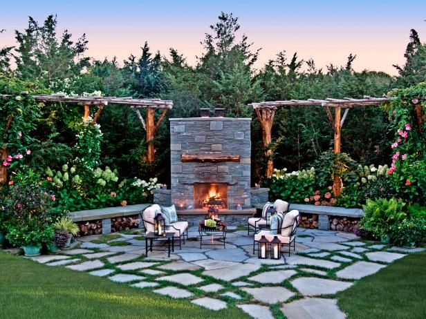 Cozy Patio With A Fireplace | HGTV U003eu003e Http://www.hgtv