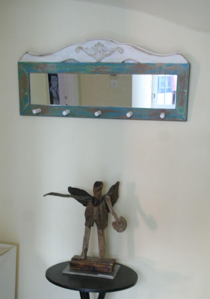 mirror from reclaimed oak wood